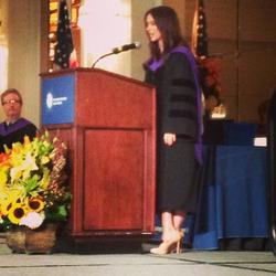 Jennifer Love Hewitt Graduation Ceremony Degree Recipient/Speaker Columbia College Hollywood 6/30/2013
