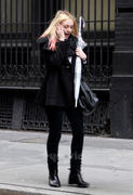 Dakota Fanning out in New York, January 27, 2012