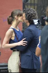 Keira Knightley and Mark Ruffalo share a kiss while filming Can A Song Save Your Life? � July 19 (HQs)